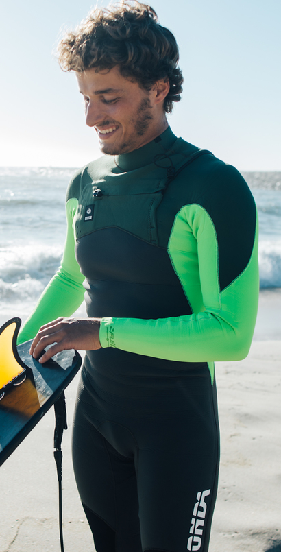 Man Wetsuit ONDA ZFLEX 3/2MM Neoprene with Chest Zip for Surf