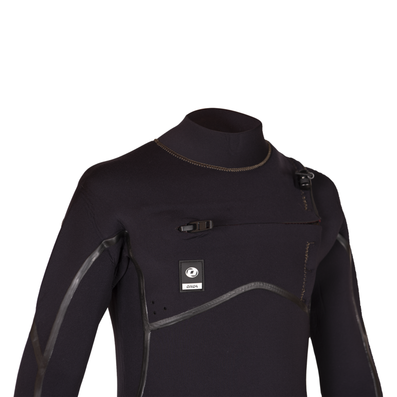 Kid Wetsuit ONDA ZFLEX 4/3MM Neoprene with Chest Zip for Surf