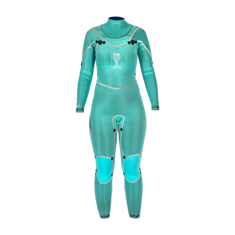 Woman Wetsuit ONDA NFLEX W 3/2MM Neoprene with Chest Zip for Surf