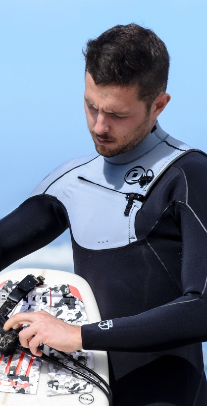 Man Wetsuit ONDA SHIELD 3MM Neoprene with Chest Zip for Surf